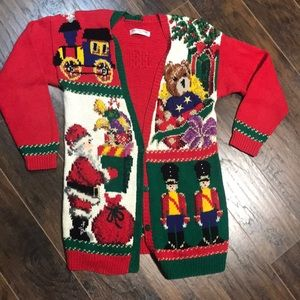 Vintage 92 ugly Christmas sweater cardigan size M